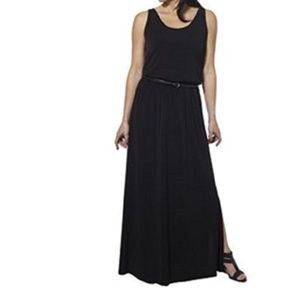Fever black belted maxi dress